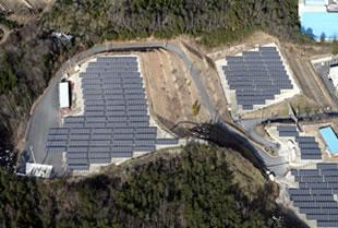 メガソーラー上空からの写真
